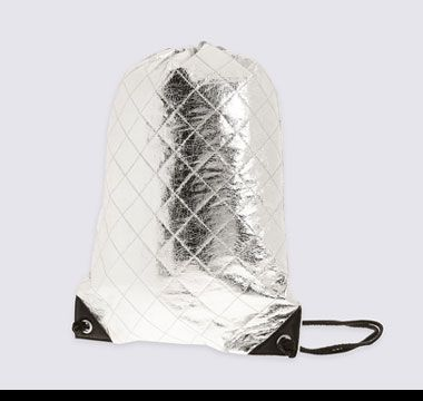 Metallic drawstring PE bag