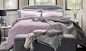Bedding on a double bed