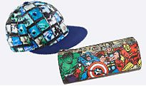 Superhero cap and pencil case