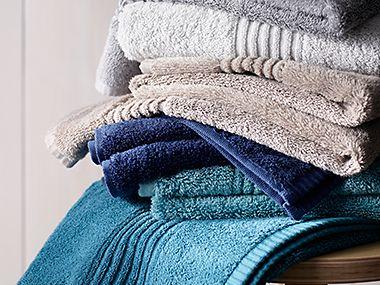 Plain coloured towels