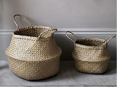 Seagrass storage baskets