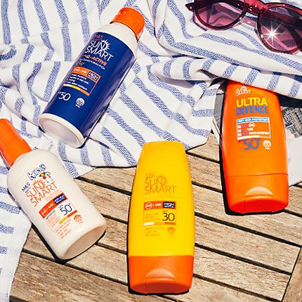 Selection of Sun Smart suncare products