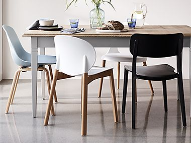 Chairs set around a table