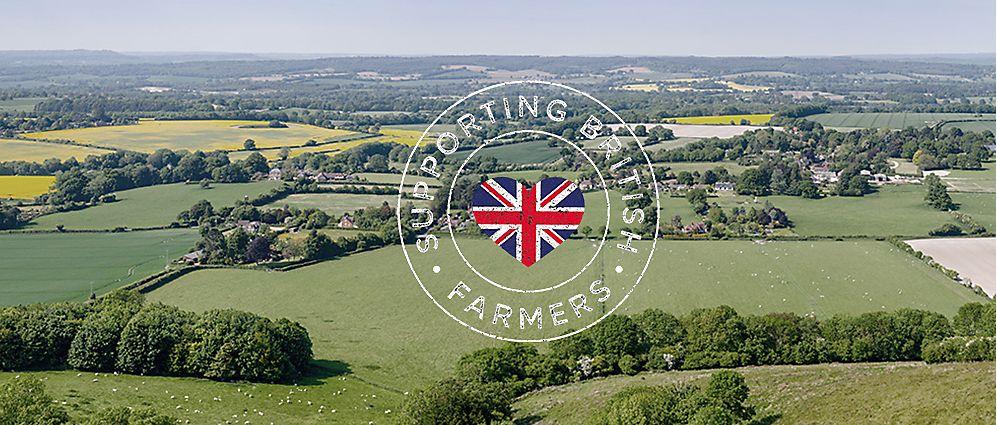 Farmland and Supporting British Farmers logo