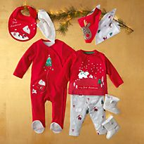 Christmas baby grows and bodysuits