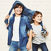 Boys wearing denim