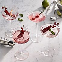Various cocktail glasses