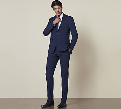 Man wearing super slim suit