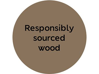 Responsibly sourced wood roundel