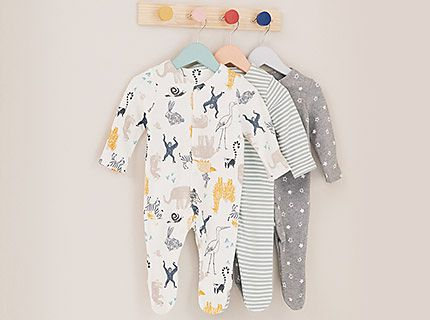 A selection of sleepsuits