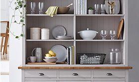 Wooden kitchen dresser