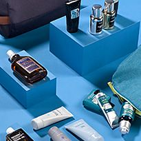 Various men's grooming products