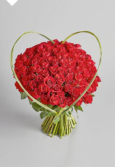 Autograph 100-stem heart Bouquet