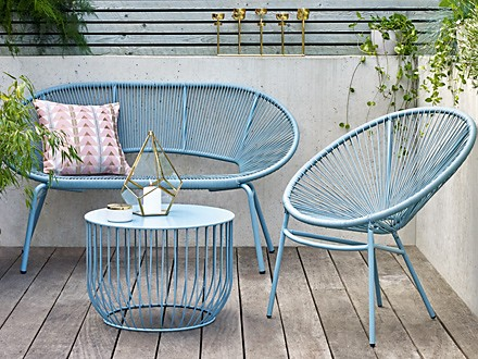 Loft Lois garden chair, outdoor sofa and garden table