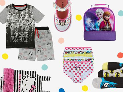 Star wars, hello kitty, disney and batman products