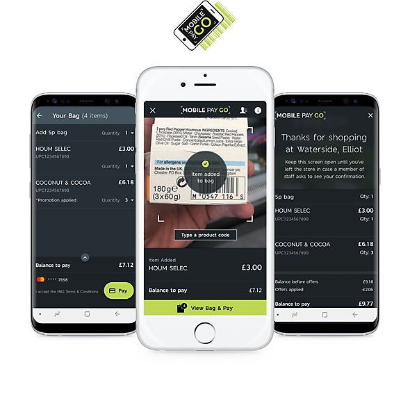 Mobile Pay Go on M&S App