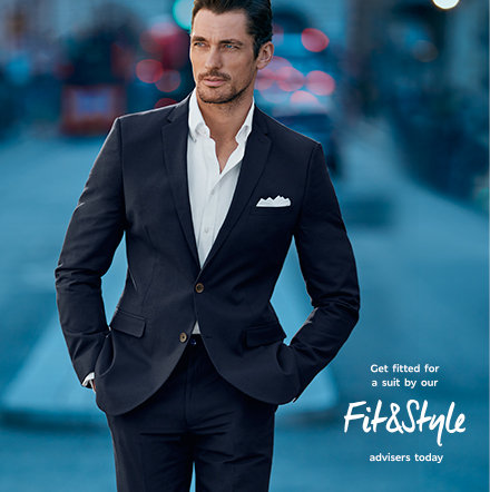 David Gandy wearing a navy M&S suit