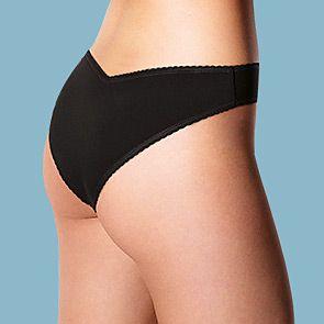 Woman wearing black Miami knickers