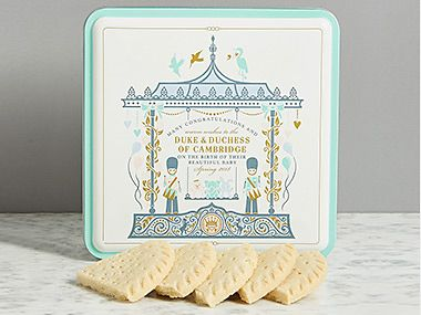 Royal baby shortbread biscuit tin