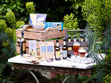 Beer, wine and hamper