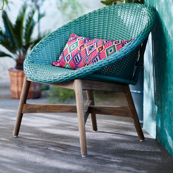 Capri garden chair in jade. A garden chair to brighten up your summer