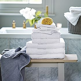 Fluffy towels stack