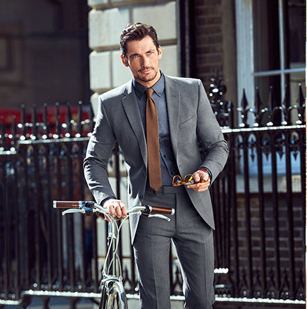 David Gandy wearing a suit