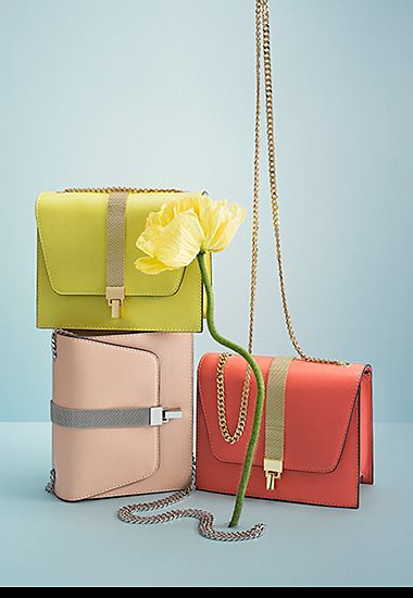 Cross-body bags with gold detailing