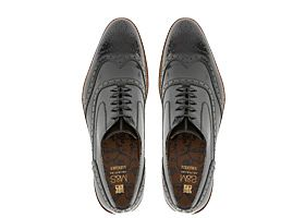 Leather mens brogue shoes