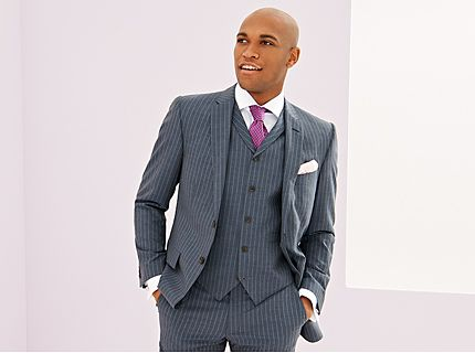 Man in three-piece suit with pocket square