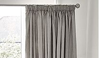 Grey ready-made curtains