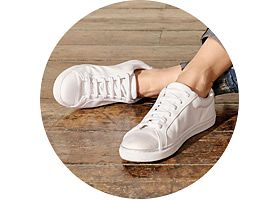 Leather Lace Up Trainers