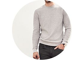 Mens jeans and jumper