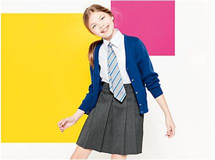 Girl in school uniform