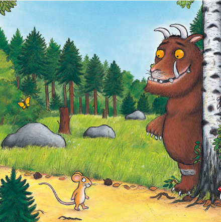 Drawn image from The Gruffalo