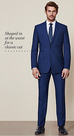 Man wearing tailored suit
