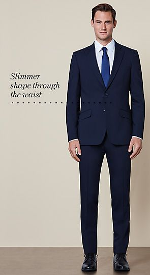 Suits buying guide for men m s for Dress shirt fitted vs slim