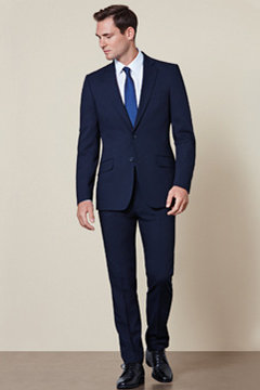 Man wearing slim suit
