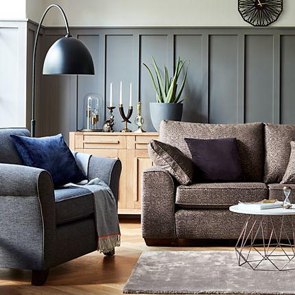 Sofa and armchair in a living room