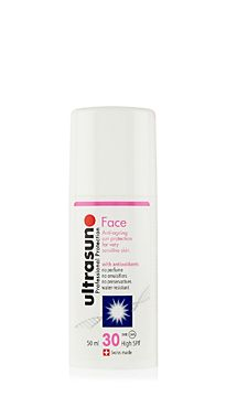 Ultrasun sun cream for the face