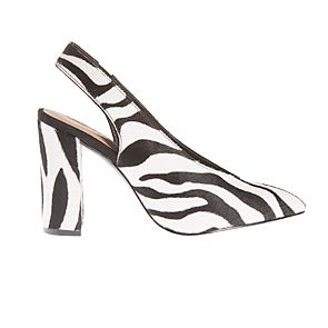 Zebra-print shoes