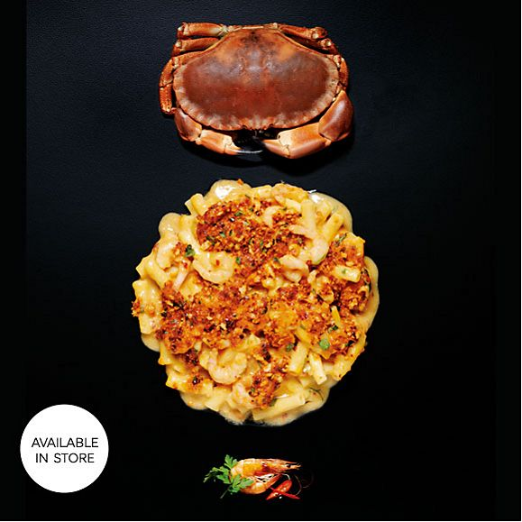 Discover our new crab & prawn mac and cheese