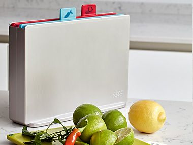 Set of plastic chopping boards