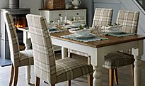Ashby tartan dining room table and chairs