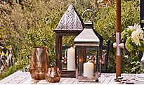 Outdoor lanterns and garden furniture