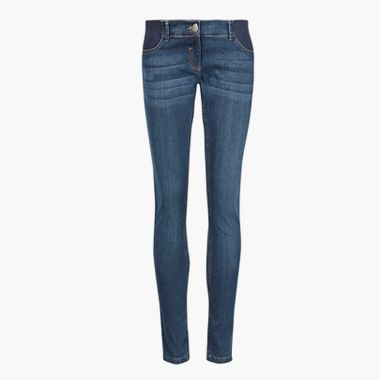 Stone-wash maternity jeans