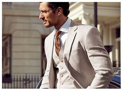 David Gandy in Linen Suit