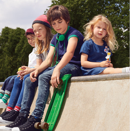 Kids wearing M&S denim