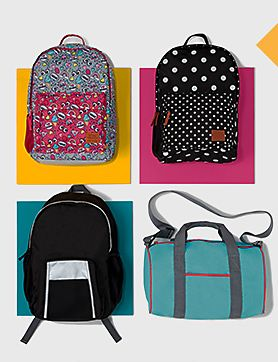 Four school bags