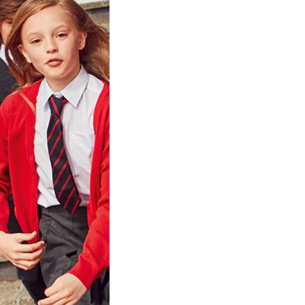 Children wearing M&S school uniform